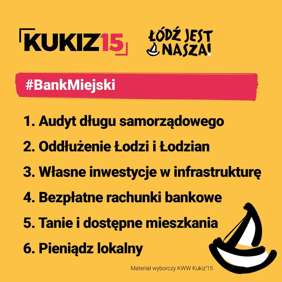 Rafał Górski - bank miejski - program wybory łódź